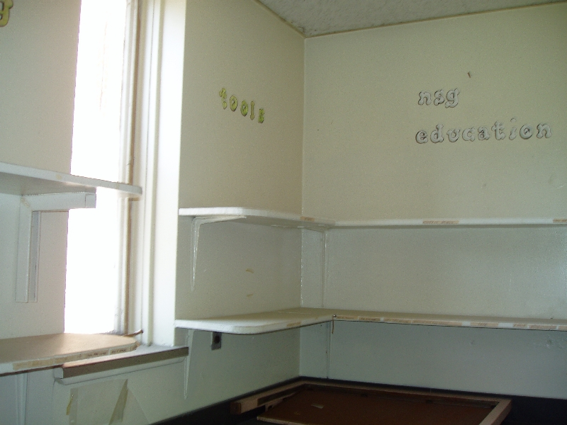 An empty classroom for older children.